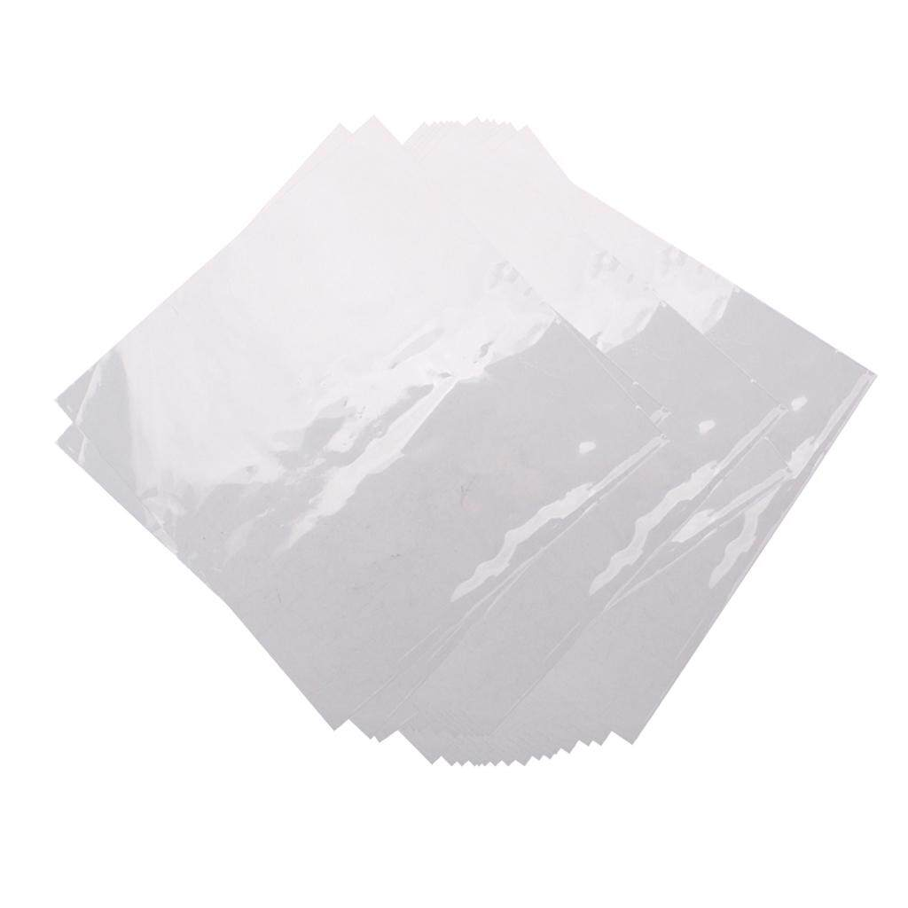 Baoblaze 50 miếng Nhựa Dẻo Kỷ Lục Tay Ngoài Rõ Ràng cho 12inch LP LD Lưu Trữ Accs