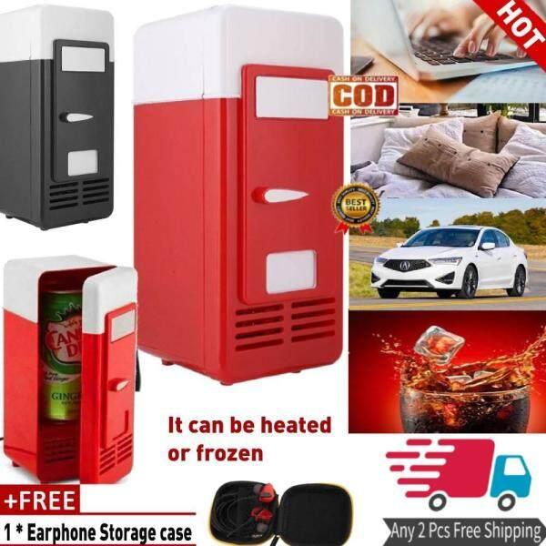 [Tặng] salmophoTủ Lạnh MÁY TÍNH USB Mini Tủ Lạnh Tủ Lạnh Đồ Uống Uống Có Thể Làm Mát Ấm