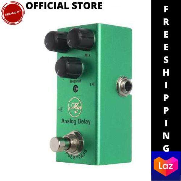 [LAZCHOICE] Analog Delay Guitar Effect Pedal with ABS Control Knobs Mini Single Pedal for Electric Guitars DC 9V Dark Green (Standard) Malaysia