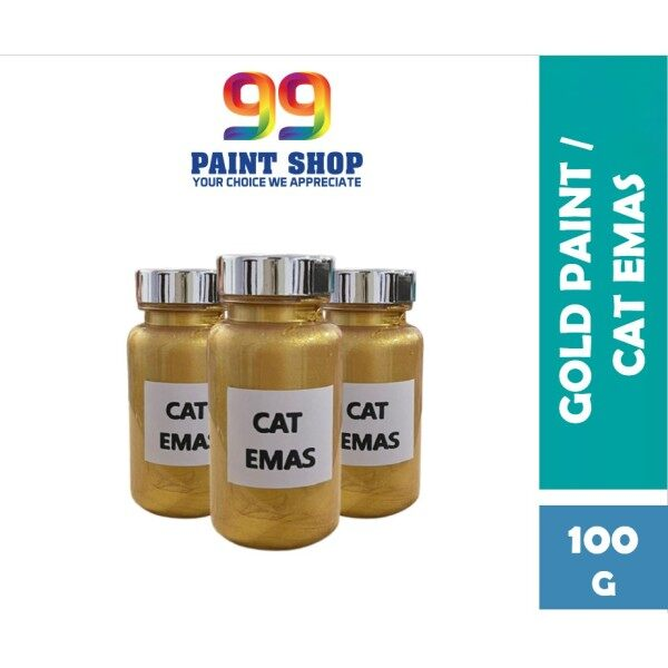 🔥PROMO🔥 100G Gold Paint Cat Emas Water Based Gold Colour