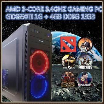 GAMING PC DESKTOP 3CORE 3.4GHZ GTX650TI 1G 4GB DDR3 320GB HDD SUPPORTED DOTA2,CSGO,GTA5,FORTNITE M-HIGH SETTING