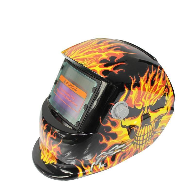2018 New Pro Solar Welder Mask Auto-Darkening Welding Helmet Iron chains skull