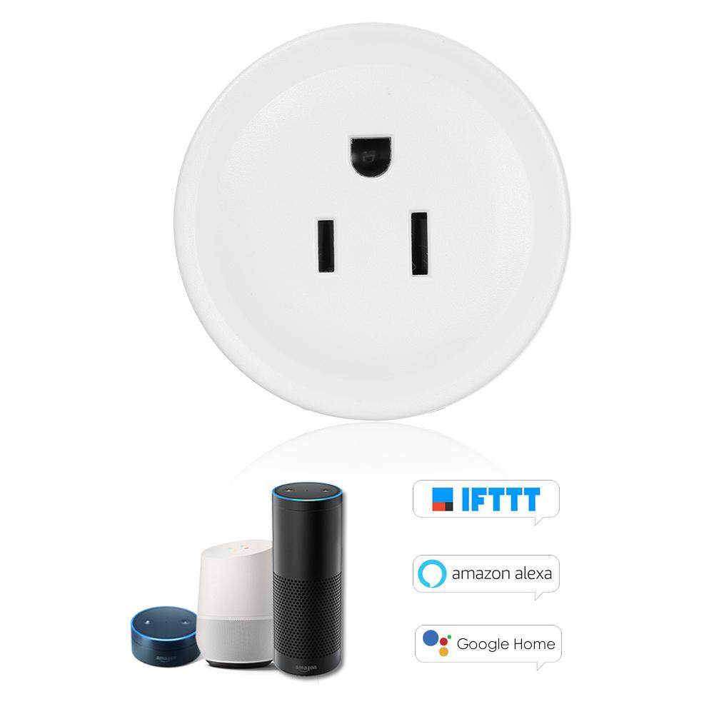 Mini Thông Minh W-IFi Ổ Cắm Điều Khiển Từ Xa Bằng Điện Thoại Thông Minh Từ Bất Cứ Nơi Nào Chức Năng Thời Gian, điều Khiển Bằng Giọng Nói Cho Amazon Alexa Và Cho Đi-Ogle Nhà IFTTT