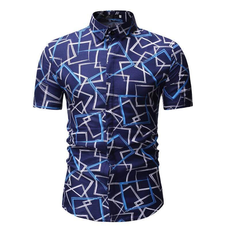 780991e7 Mens Floral Shirts Short sleeve Flower Hawaiian Shirt Men Fashion Blouse  Aloha Shirt