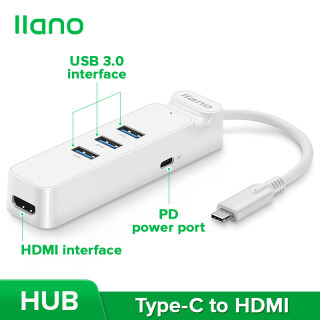 Bộ Chuyển Đổi Llano Type-C Sang HDMI Với Chức Năng Sạc PD, Trạm Nối USB-C, Cho Macbook,Asus, Huawei, Windows,OS Và Nhiều Hơn Nữa thumbnail