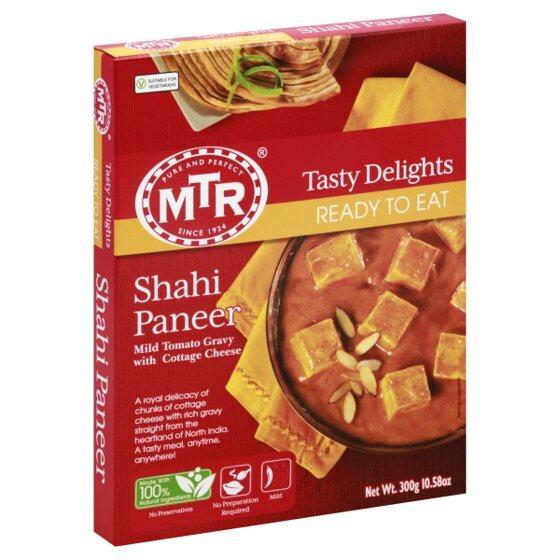 MTR Ready To Eat Shahi Paneer 300g Heat & Eat Cottage Cheese Gravy