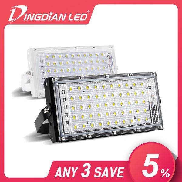 DINGDIAN LED LED Flood Light 220V Outdoor IP66 Waterproof 50W Perfect Power RGB Floodlights LED Multicolour Spotlights SearchLight