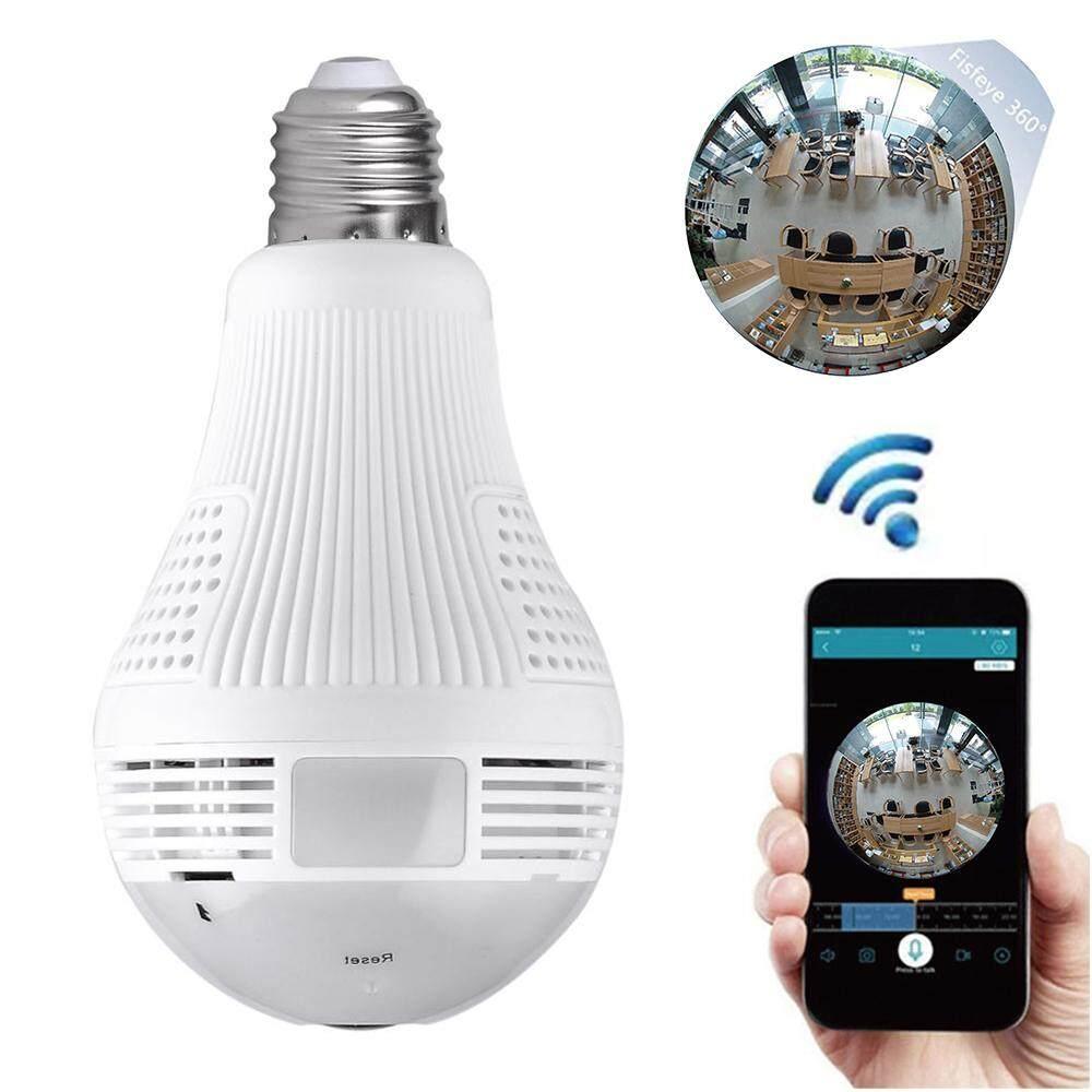 960 P CCTV Nirkabel Wifi Bohlam Kamera Ip Keamanan Kamera Lampu Mini Fisheye Bohlam Panorama Monitor