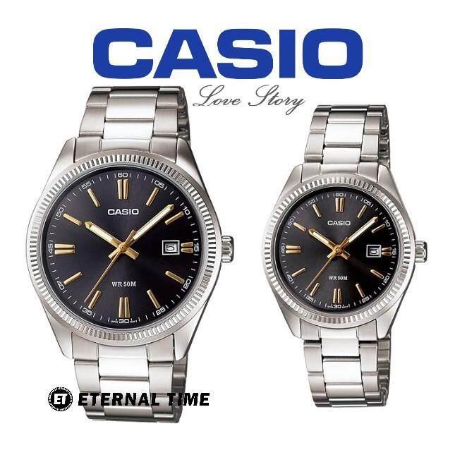 (2 YEARS WARRANTY) Casio ORIGINAL MTP-1302D-1A2 & LTP-1302D-1A2 Analog Couple Watch (MTP-1302D) (LTP-1302D) (JAM TANGAN PASANGAN / WATCH FOR COUPLE / CASIO WATCH / JAM TANGAN CASIO) Malaysia