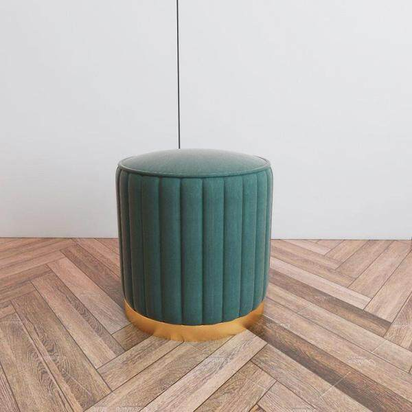 Poufs Nordic Fabric Small Round Stool Sofa Chair Iron Makeup Stool Shoe Stool