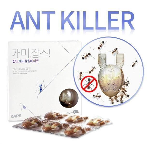 [Ant Zaps] Ant Killer Bait Station Nest Trap Common Household 6Packs