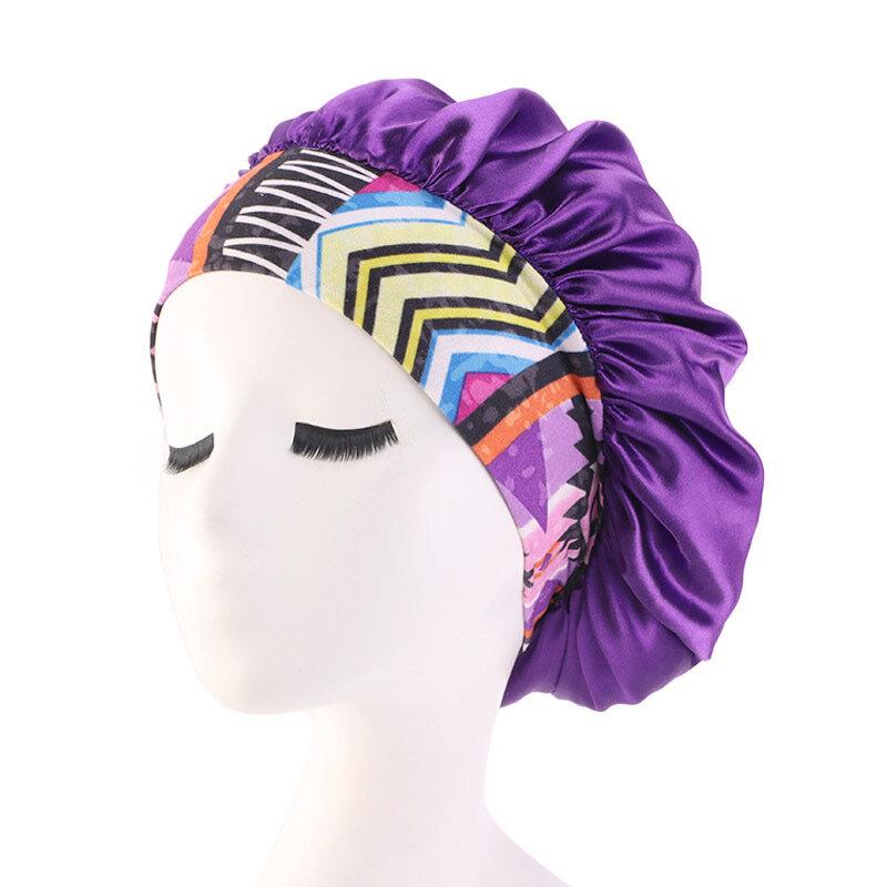 2pcs 100/% Silk Sleeping Cap Sleep Hat Night Hair Styling Care Bonnet Wrap