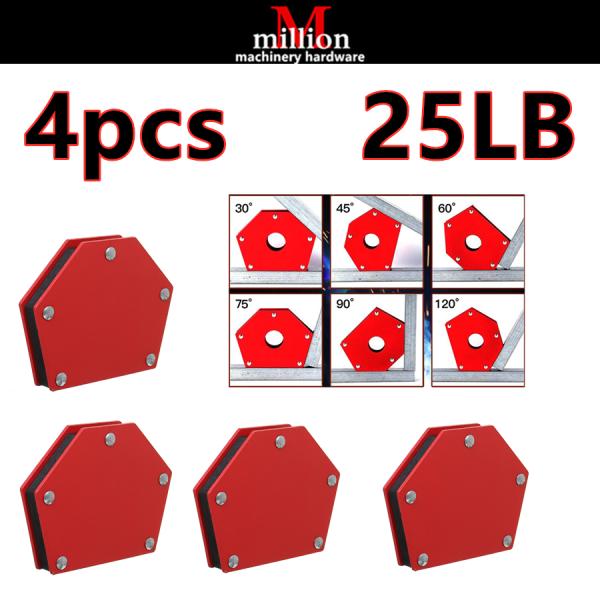 millionhardware - ( 4pcs ) 25LBS Soldering Locator Strong Magnet Welding Magnetic Holder Angle Welder Welding Positioner
