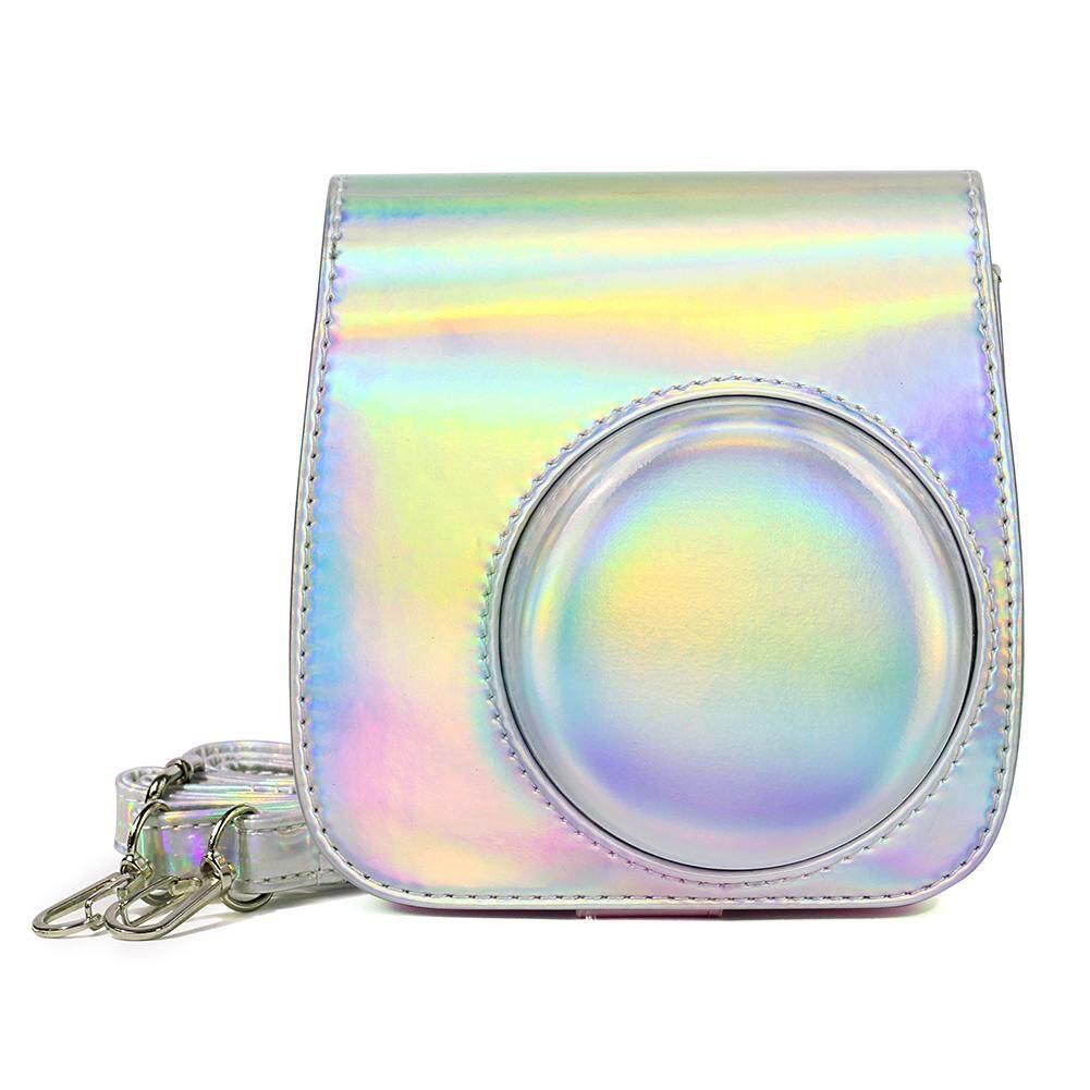 Camera Case Bag Stylish Leather Protective Storage Pack for Polaroid Mini 8 Camera