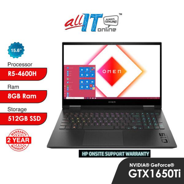 HP OMEN 15-En0049AX 15.6 144Hz Gaming Notebook (R5-4600H, 8GB, 512GB SSD, GTX1650Ti , W10H) Malaysia