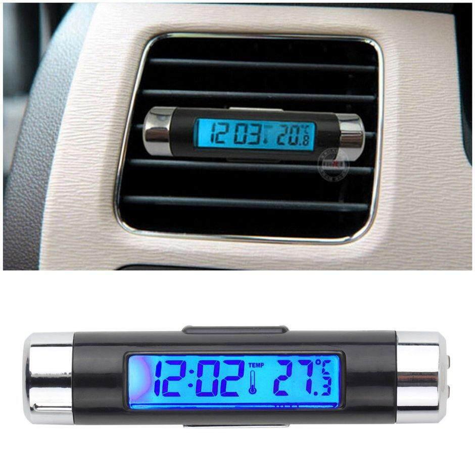 ที่ดีที่สุดขายรถคลิป Lcd - On Digital Backlight ยานยนต์นาฬิกาเทอร์โมมิเตอร์ปฏิทิน By Carcool.