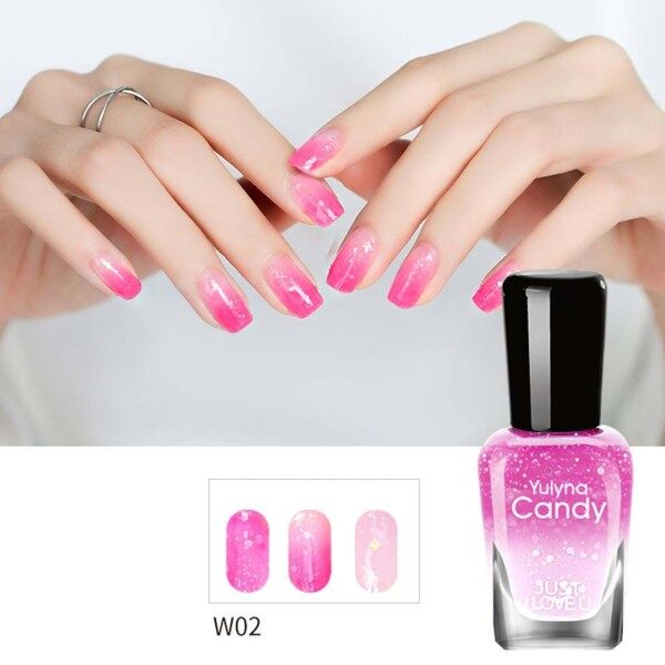 Thay đổi nhiệt độ sơn móng tay màu kiểm soát nhiệt độ dầu móng tay 33 màu 7ml COD