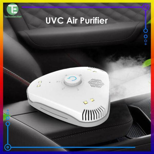 【Techcollection】For Home Office Mini UVC Air Purifier Portable Negative Ion Health Air Cleaner White Singapore