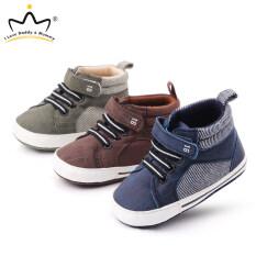 Giày Thường Ngày Khóa Dán Cổ Lửng, Giày Trẻ Sơ Sinh Giày Trẻ Mới Biết Đi Bé Trai Giày Đi Bộ Nghiêng Bằng Cotton Mềm Cho Trẻ Sơ Sinh Bé Trai Căn Hộ