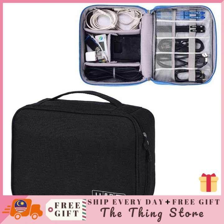 6ef5f80feaca GoTravel Electronic Digital Gadget Bag Universal Organizers USB Storage Bag  Multi-function Large Capacity Accessories Cable Organizer Unisex Travel ...