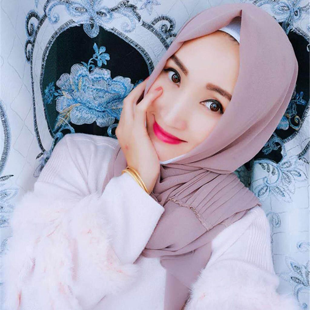 Hijab Muslim Wanita Jilbab Jilbab Sorban Pashmina Selendang dengan Mode Terkini Wanita Selendang Lembut Selendang Panjang Chiffon Syal Sutera Bermotif Syal