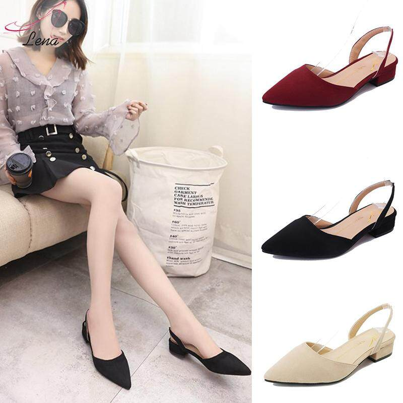 2eaa008dbea2a LENA Shoes Women Flat Shoes Pointed Shoes Kasut Flats Women Pointed Flats  Shoe