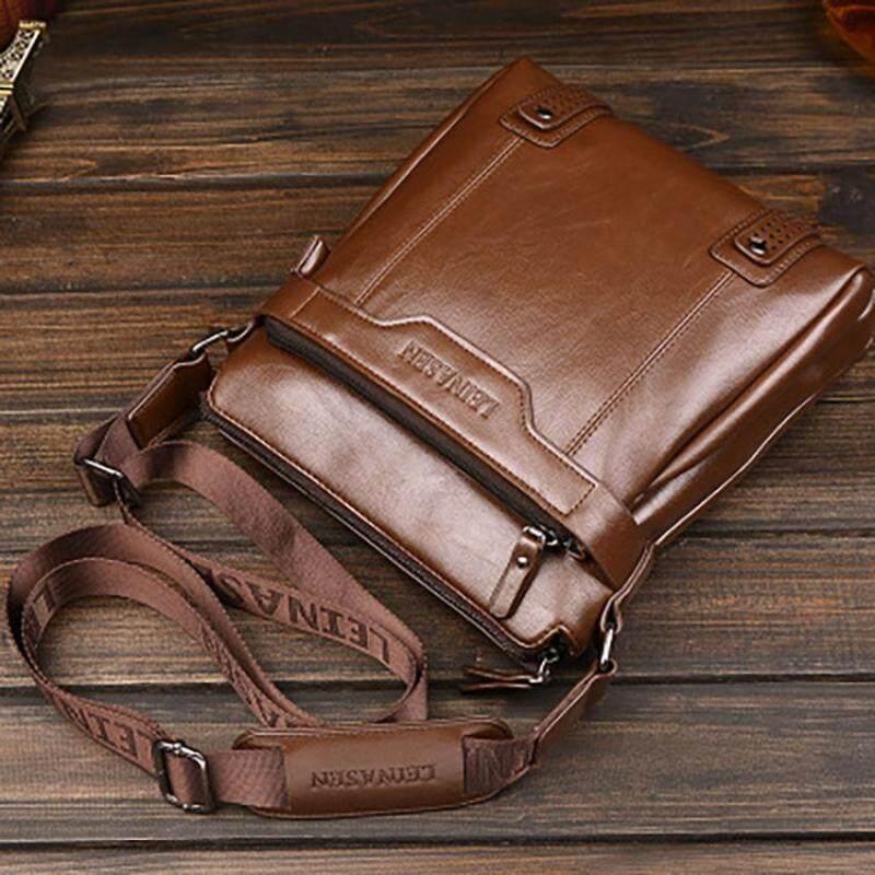 Unique2017 Mens Simple Casual Retro High Quality Vertical Waterproof PU Business Bag Handbag Tote Bags Lightweight Briefcase Messenger Outdoor Travel Shoulder Bag