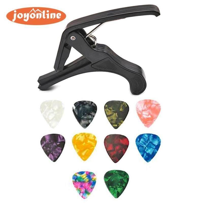 Hot Sale Guitar Capo Classic Delicate Texture Plastic Guitar Capo Key Trigger+10 Picks Ukulele Bass Quick Change Tuning Clamp Malaysia