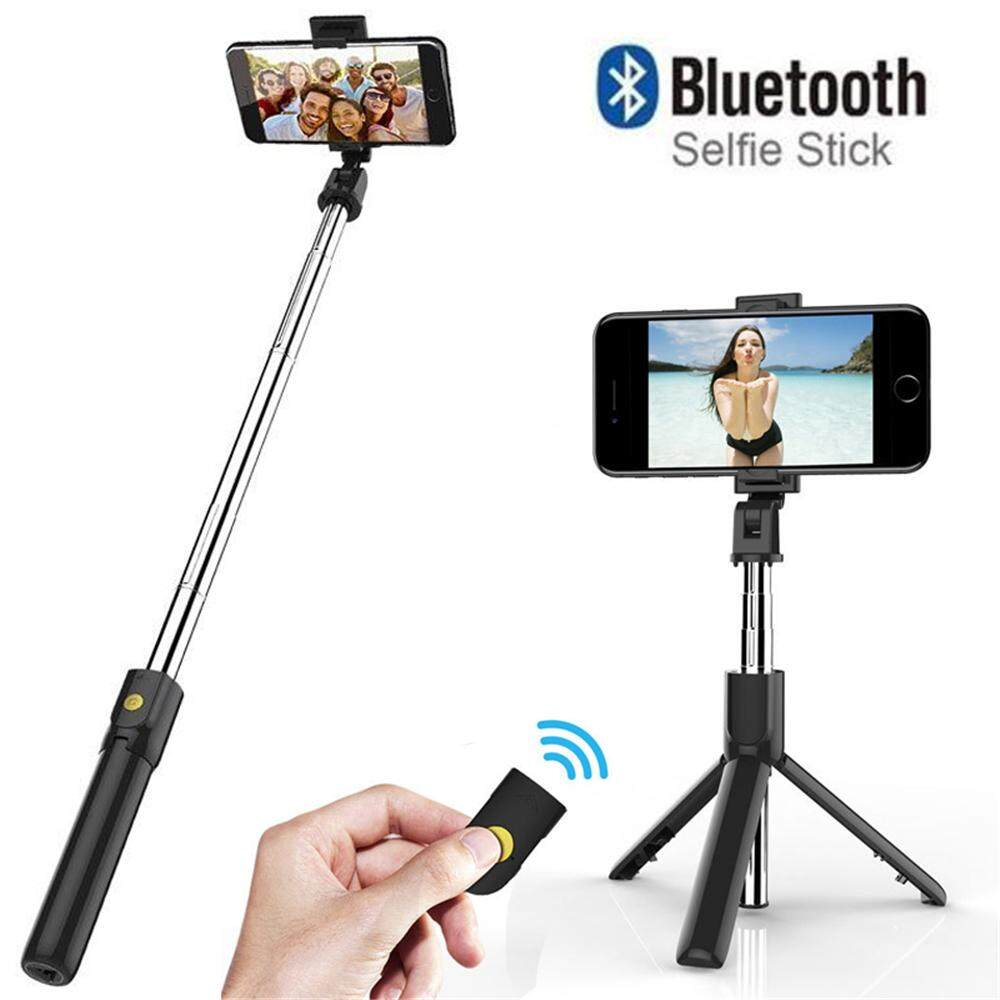 1* Outdoor Photography Cellphone Travel Bluetooth Shutter Selfie Stick Handheld Tripod Wireless Control