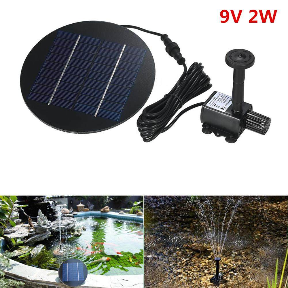RD 9V 2W Solar Fountain with Round Water Pump for Pond Garden Decoration