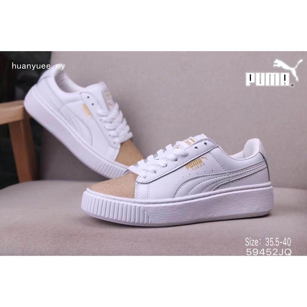 Brand Pumas BASKET PLATFORM CORE Comfortable Women s sports casual Casual  flat shoes 322fb215f