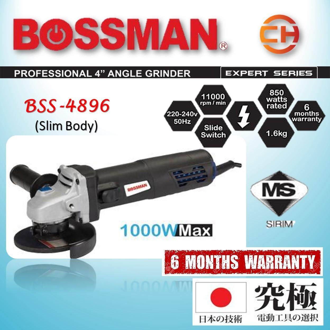 BOSSMAN Slim Body 4 Angle Grinder 1000W BSS-4896 [WITH SIRIM]