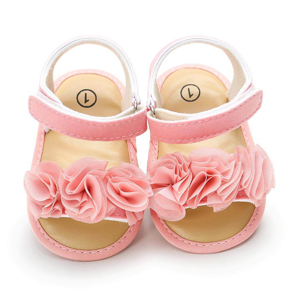 13a9ba5c3fc5a New Newborn Baby Girls Boys Flower Sequins Sandals First Walkers Soft Sole  Shoes