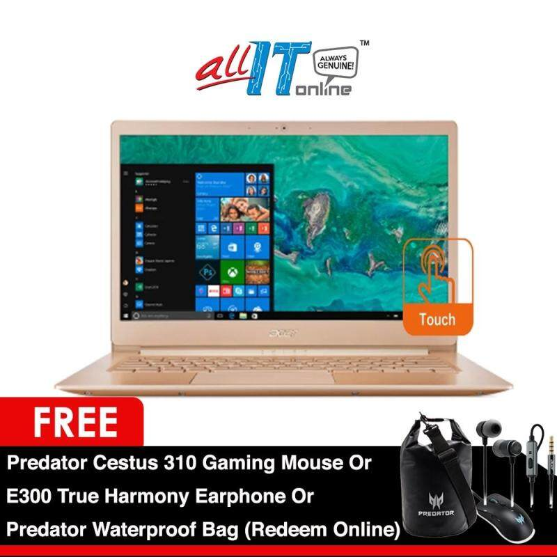 Acer Swift 5 SF514-52T-50DZ 14  Notebook Gold [i5-8250,8GB,256SSD,W10,Touch Screen]**FREE Acer Backpack** Malaysia