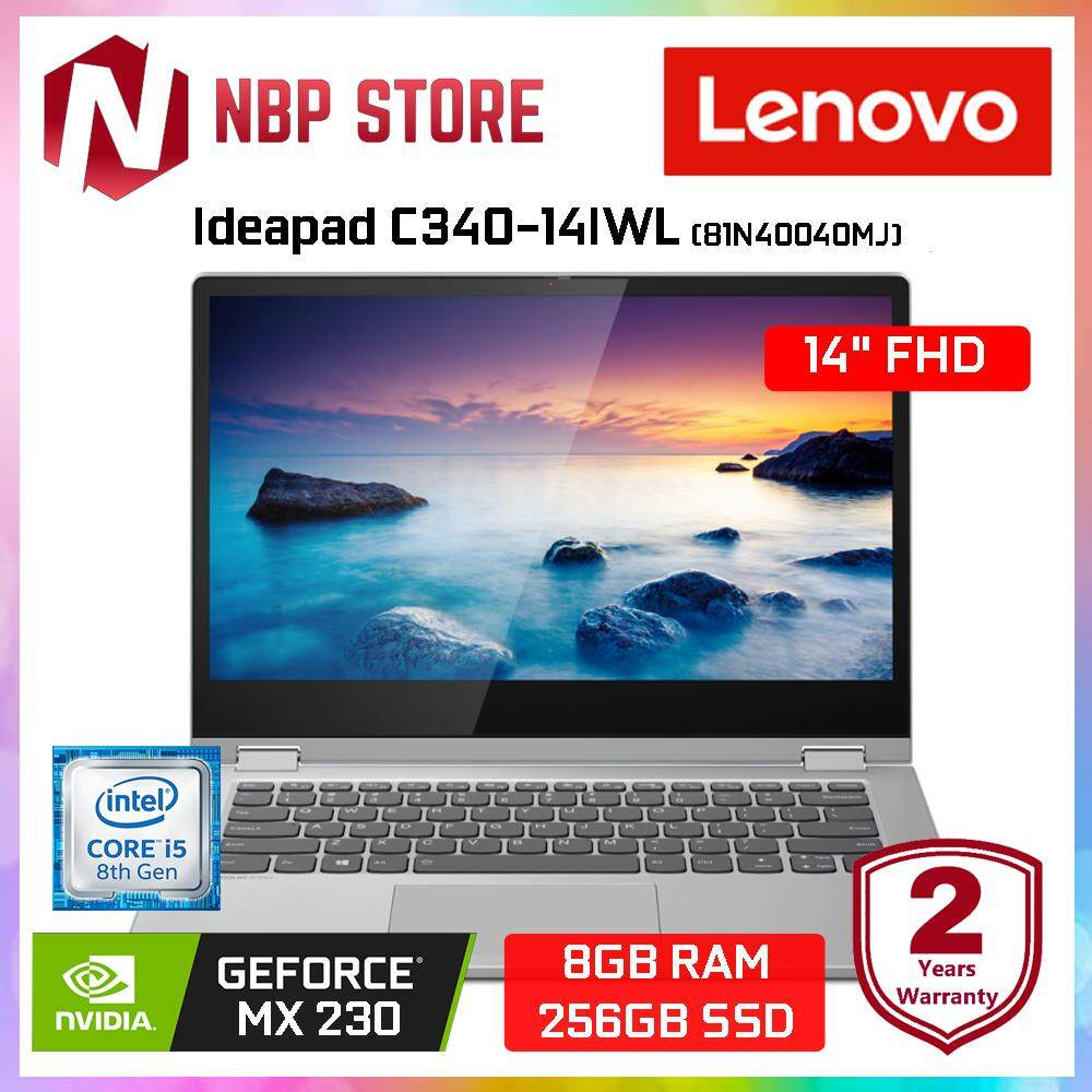 Lenovo Ideapad C340-14IWL 81N40040MJ 14  FHD IPS Touch Laptop Platinum ( i5-8265U, 8GB, 256GB, MX230 2GB, W10) Malaysia