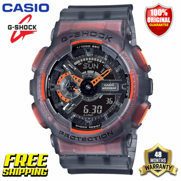 Original G-Shock GA110 Men Sport Watch Japan Quartz Movement Dual Time Display 200M Water Resistant Shockproof and Waterproof World Time LED Auto Light Sports Wrist Watches with 4 Years Warranty GA-110LS-1AER (Free Shipping Ready Stock) Malaysia