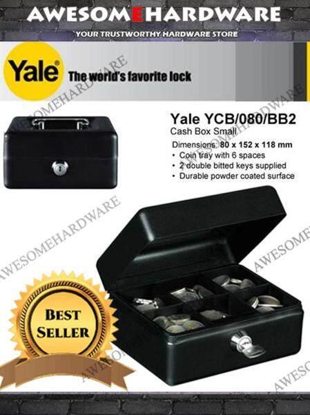 YALE ORIGINAL CASH BOX COIN BOX STORAGE DRAWER WITH KEY YCB/080/BB2 (SMALL)