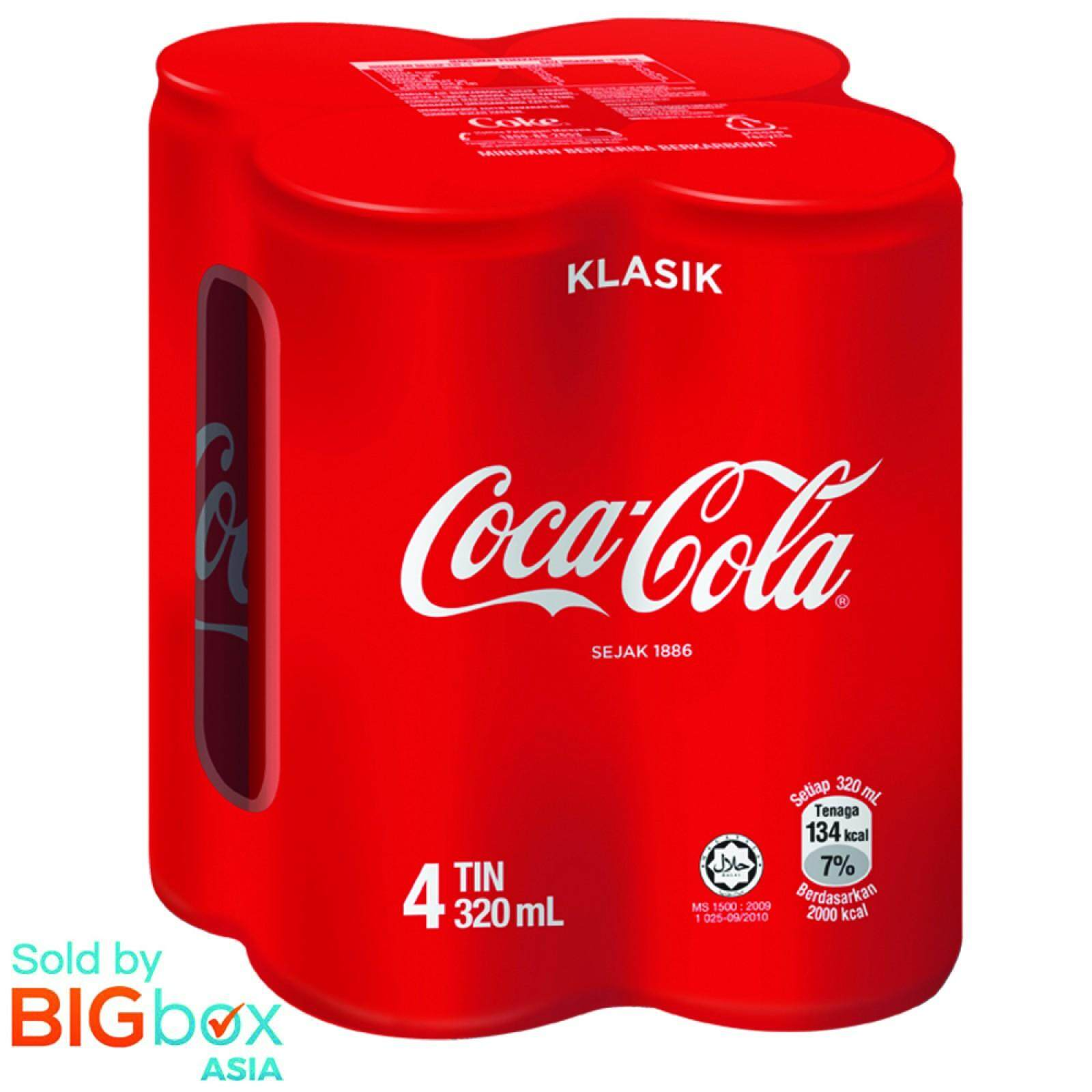 Coca-Cola 4 cans x 320ml - Malaysia [BIGbox Asia]