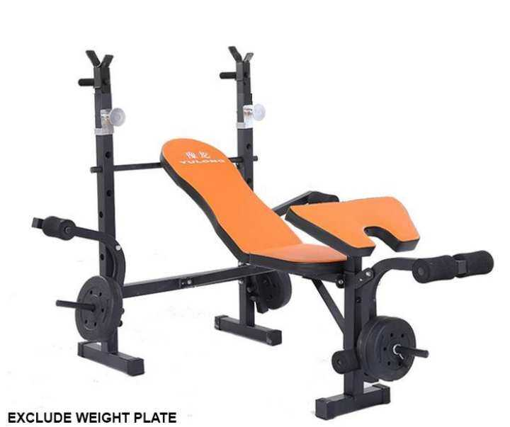 Sellincost Sit Up Dumbbell Bench Squat Rack Bench Press