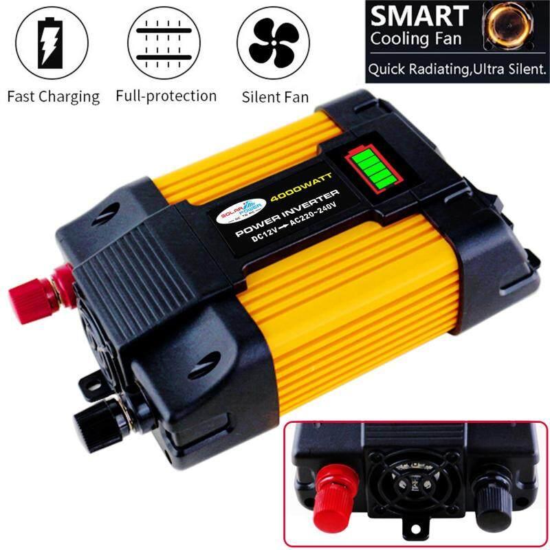 Peaks Power 4000W Máy biến áp sử dụng năng lượng mặt trời biến đổi điện 12V DC sang điện 220V AC - INTL