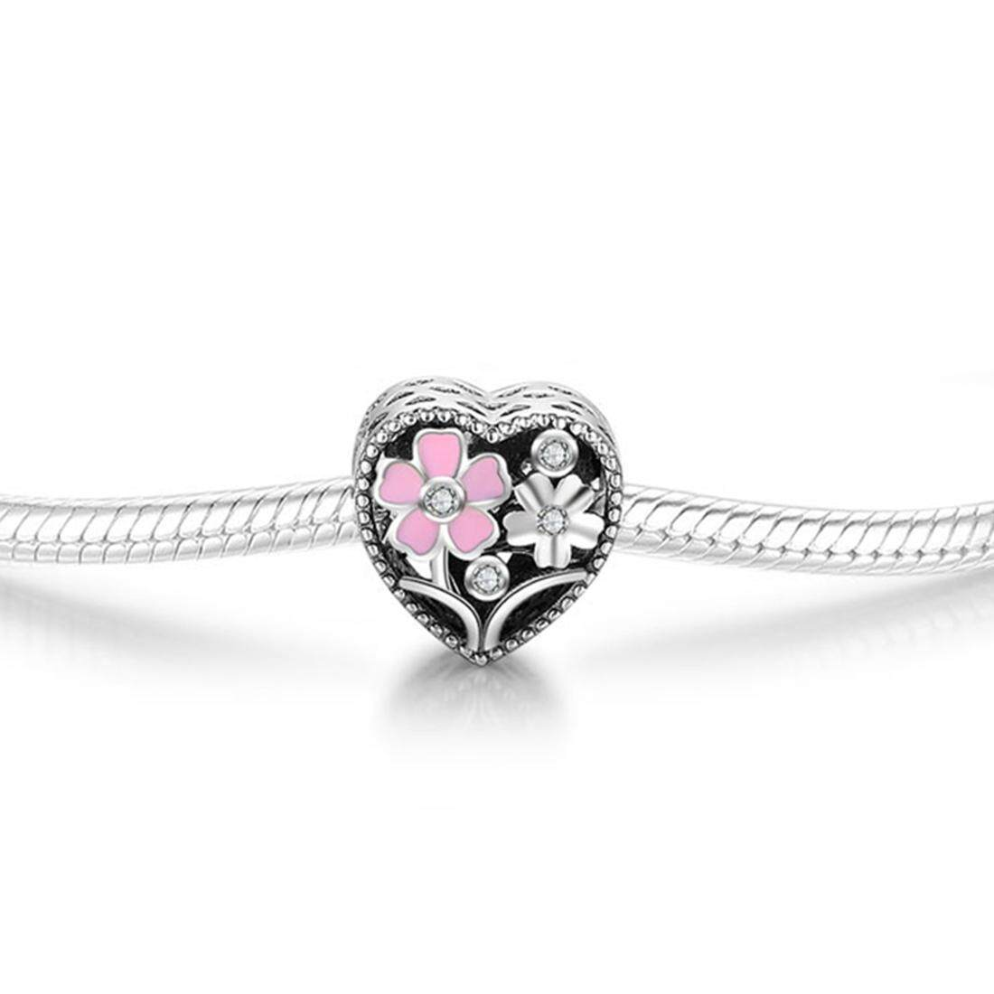925S printed bead heart pink collection can be used as engagement gift