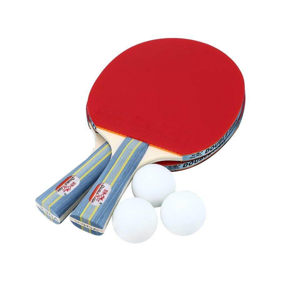 Crazy Deal ปลาคู่ไม้ปิงปองลูกบอลแบบพกพา Ping - Pong Paddle Set By Pinksoft.