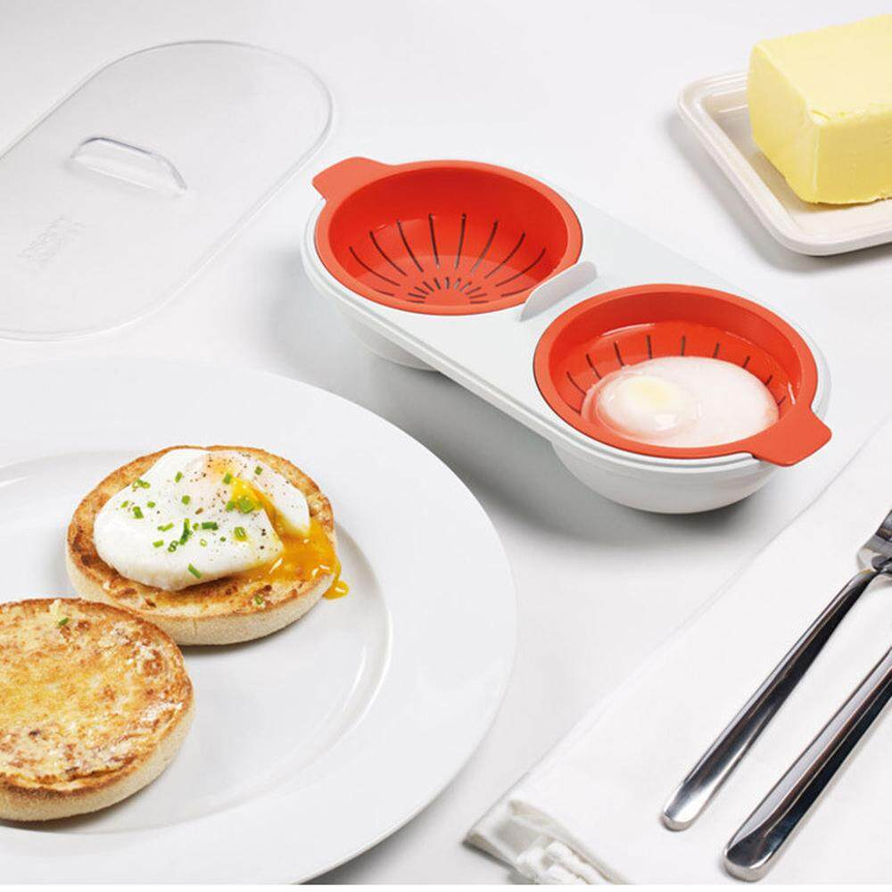 Microwave Eggs Poacher Steamer Kitchen Gadget Double Cups Egg Cooker Dual Caves Poached Egg Maker