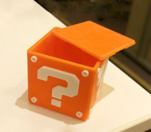 customize creative 3d print Console Game card cassette Mario question mark Brick Storage Box for NS switch 3ds zelda