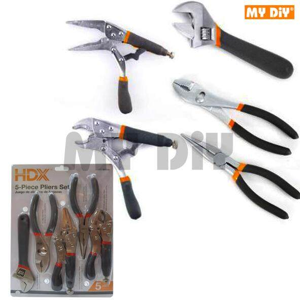 MY DIY - HDX 5pcs DIY Plier Wrench Tool Set / Long Nose Locking plier / Plumber Electrician Tool Set
