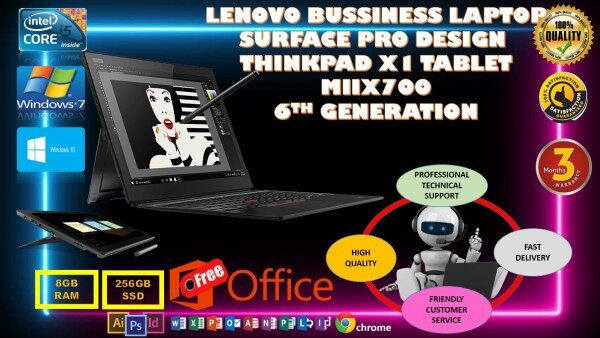LENOVO BUSINESS LAPTOP SURFACE PRO DESIGN THINK PAD X1 Tablet / MIIX 700 /Intel® Core™ 6th GEN ( 4G LTE ) WIN 10 PRO Malaysia