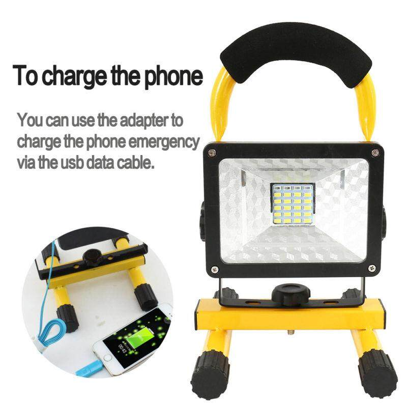Rechargeable 30W LED Work Site Flood Light Cordless Camping Lamp with Charger