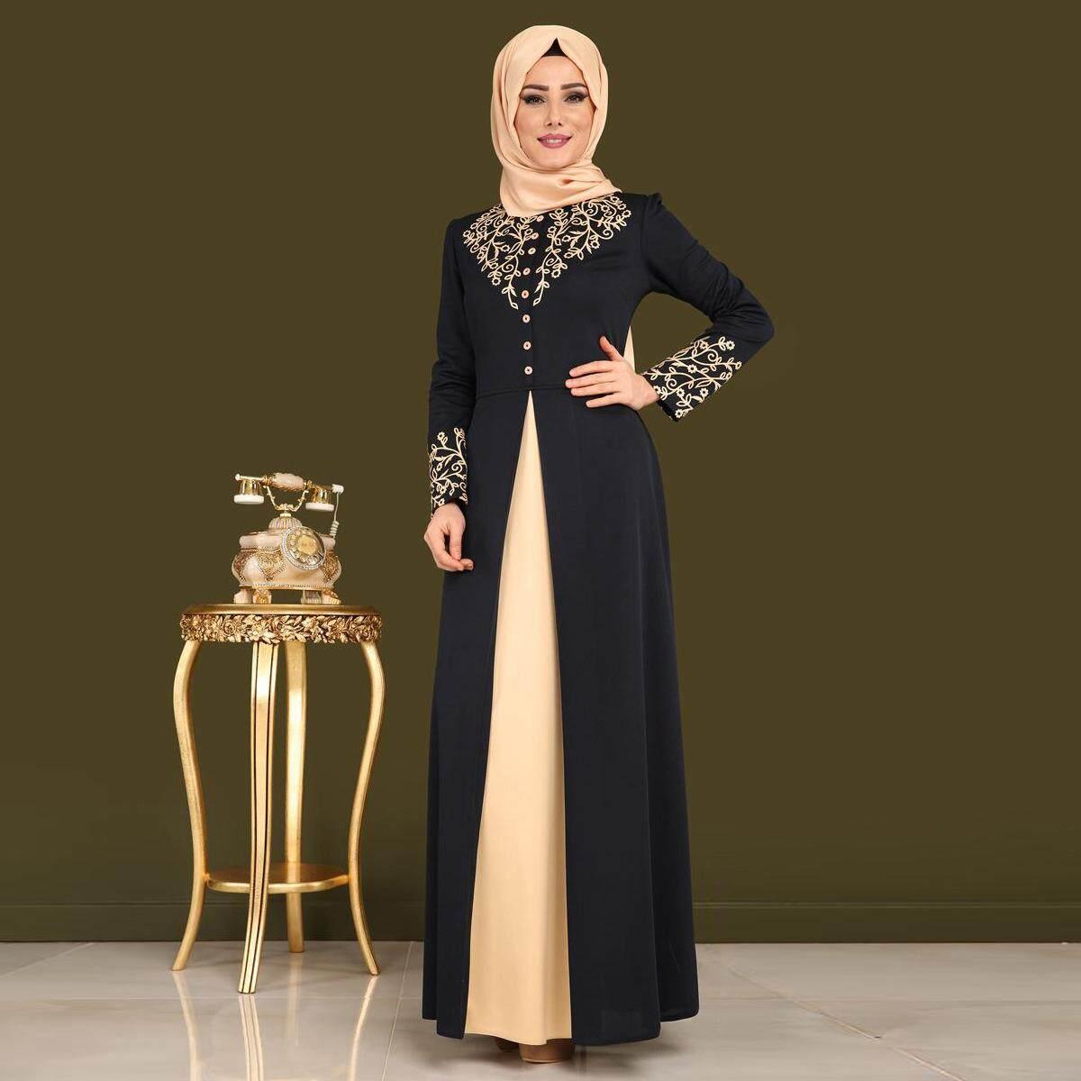 3999cad1674b5 ZUZU Casual Muslim Dress Cardigan Loose Robe Dress Ramadan Turkish Islamic  Prayer Costume Free shipping
