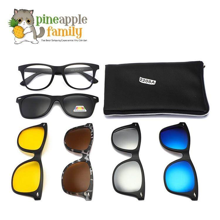 3ae1a919a9 Original Retro Frame Nezt08 Magnetic Snap-On Glasses FREE 5 lenses