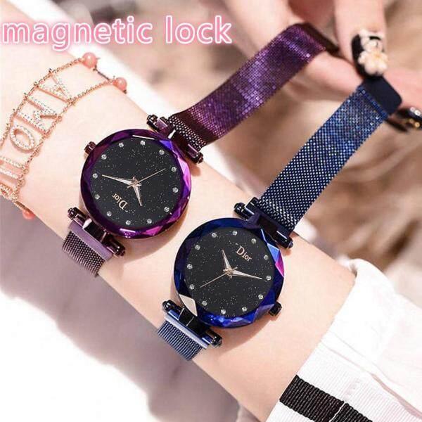 Starry Sky Magnetic Buckle Women Diamond Quartz Watch Stainless Steel Bracelet Watches Jam Tangan Wanita Malaysia
